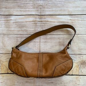 Franco Sarto Small Leather Shoulder Bag with Zip